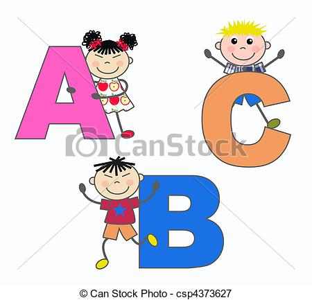 Abc kids clipart library Letter letters kid kids child children boy girl alphabet Clip Art ... library