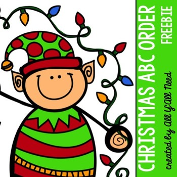 Abc order clipart clip art stock Christmas ABC Order {freebie} by All Y'All Need | Teachers Pay ... clip art stock