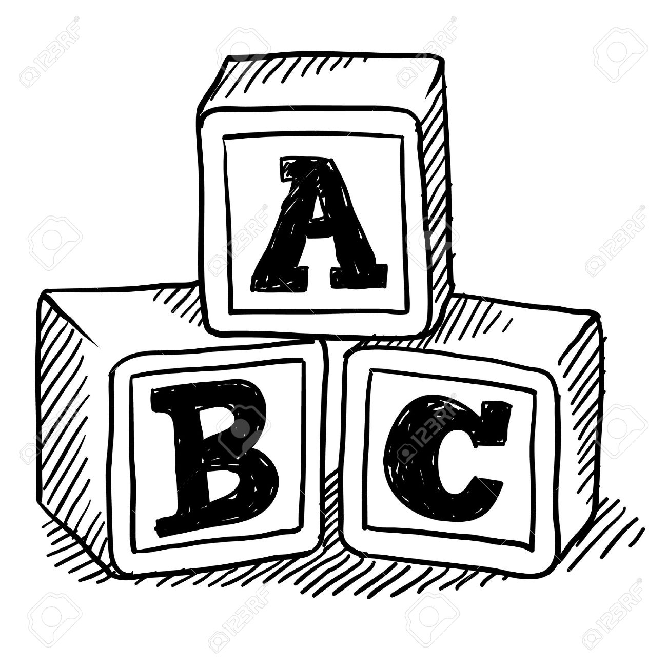 Abc clipart black and white 4 » Clipart Station graphic royalty free