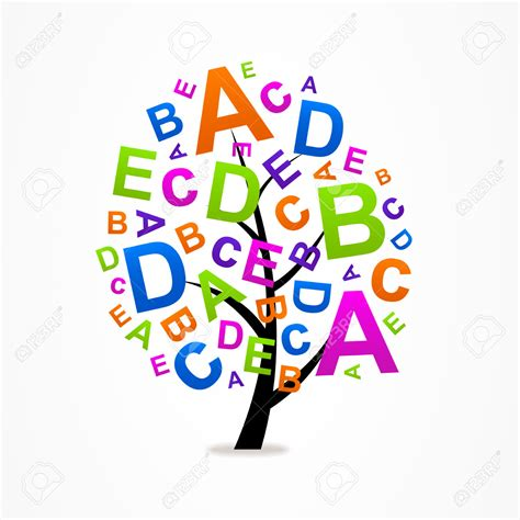 Abc tree clipart vector library ABC Nursery Art - Tristateportapotty vector library