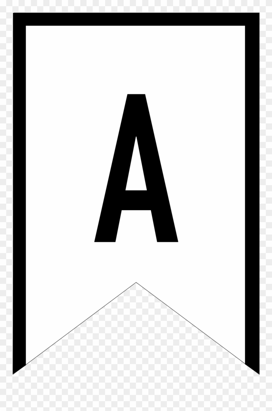 Abc triangle clipart vector free library Banner Templates Free Printable Abc Letters - Triangle Letter Banner ... vector free library