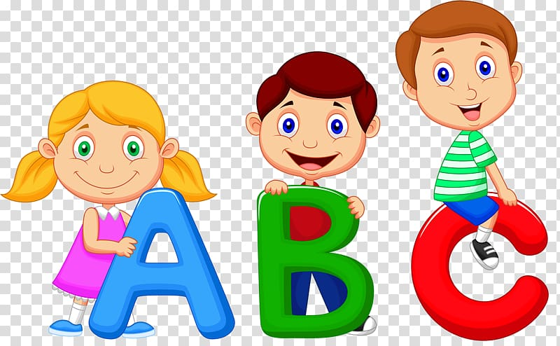 Abc with kids clipart picture download Children holding ABC letters illustration, Alphabet song Cartoon ... picture download