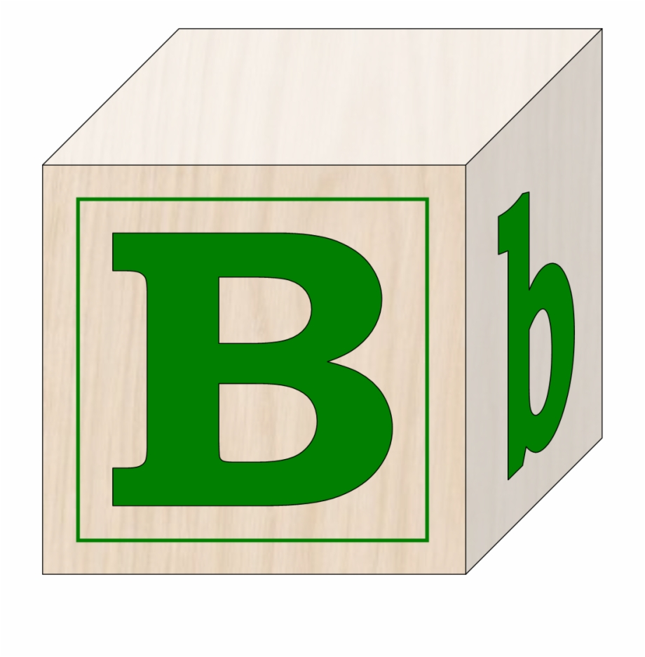 Images For Abc Blocks Clip Art - Letter B Building Block ... jpg freeuse library