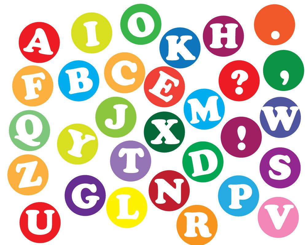 Instant download Alphabet letters Clip art, Scrapbooking letters ... vector library