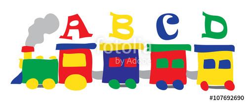 train toy alphabet abcd\