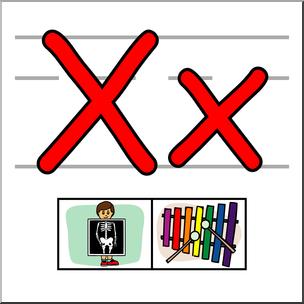 Abcteach clipart vector free library Clip Art: Alphabet Set 01: X Color I abcteach.com | abcteach vector free library
