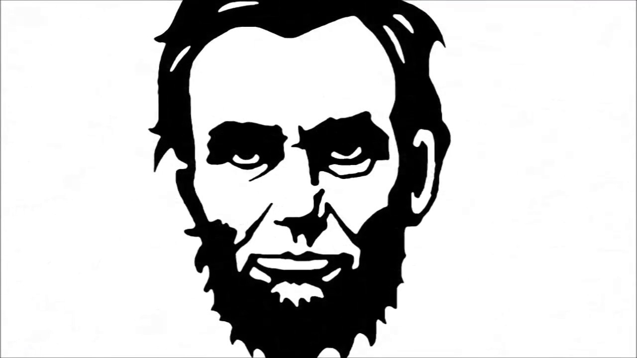 Abe lincoln clipart for kids black and white svg freeuse How to Draw Abraham Lincoln Step by Step svg freeuse