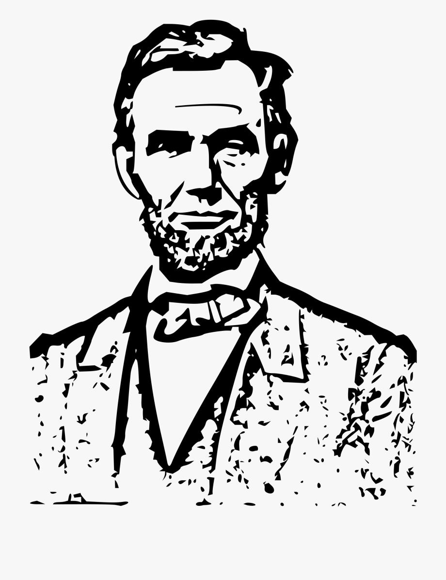 President Clipart Black And White - Abraham Lincoln Line Art ... banner library