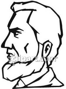 Abe lincoln clipart for kids black and white banner transparent download Black and White Face of Abe Lincoln - Royalty Free Clipart Picture banner transparent download