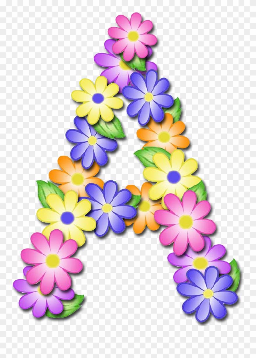 Abecedario clipart picture royalty free download Letter Floral Design - Letras De Flores Abecedario Clipart (#1378362 ... picture royalty free download