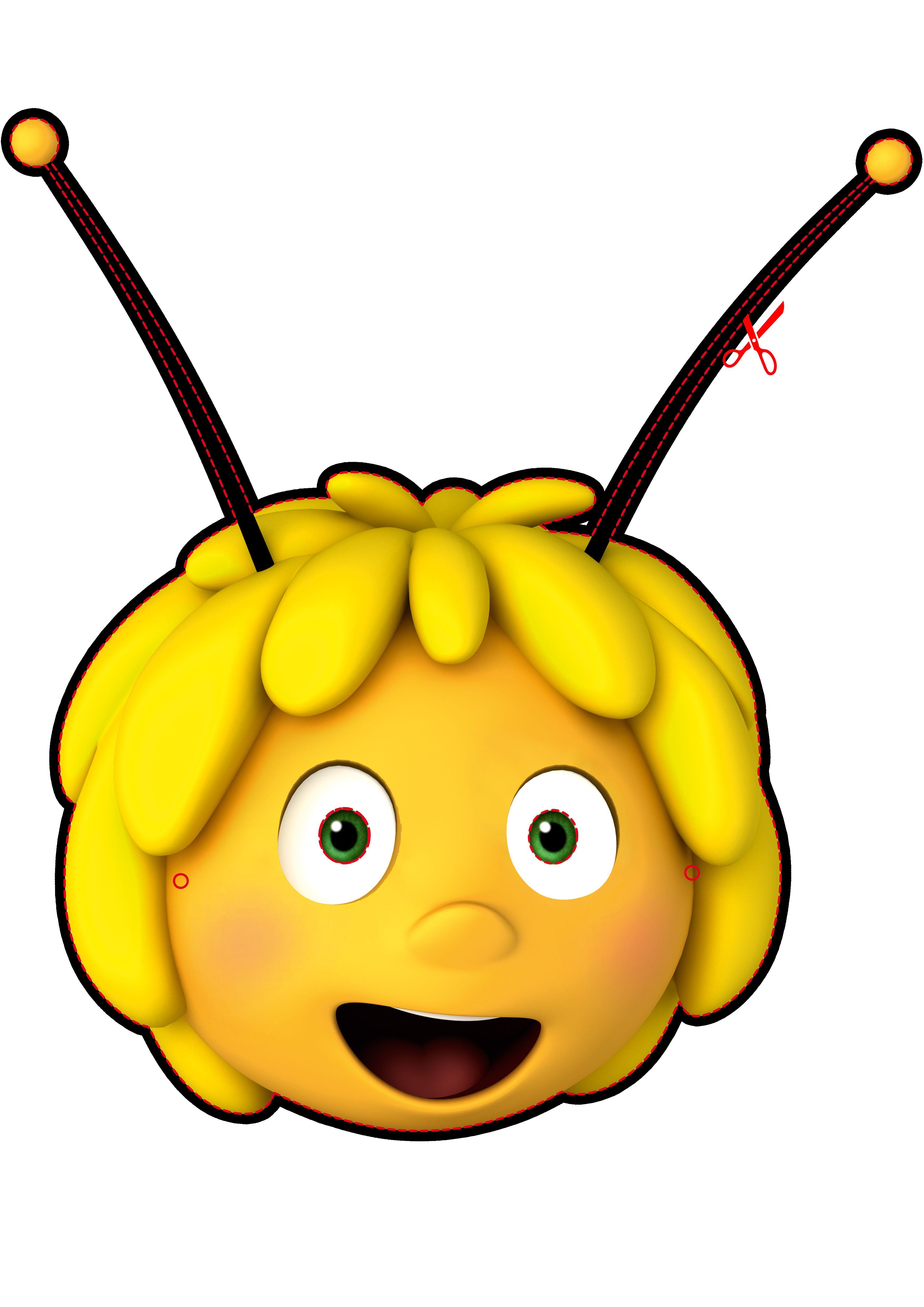 Careta ABEJA MAYA | Abelles | Bee party, Fiesta party, Bee image free download