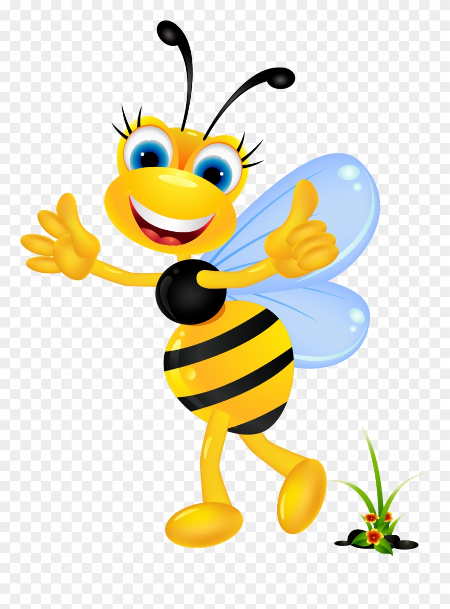 Banner Royalty Free Stock Bee Mascot Clipart - Imagenes De Abejas ... png free library