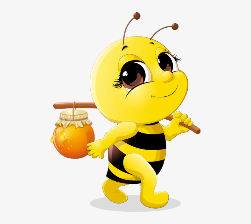 Abeille Dessin Tube Funny Bee Clipart Abeja Png Png - Cute Honey Bee ... jpg transparent download