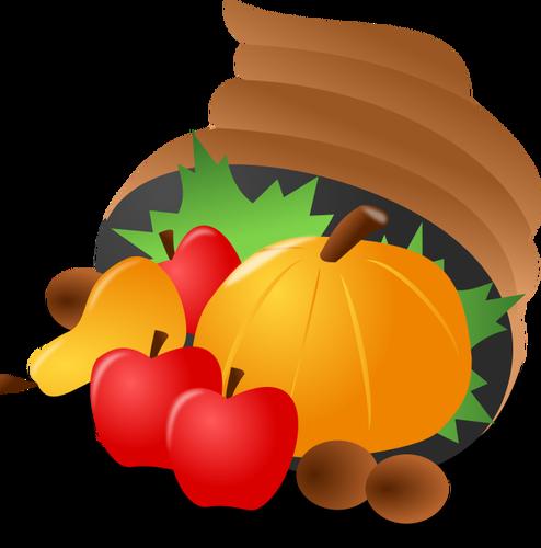 Abobora clipart vector transparent Clip-art vector da cesta de alimentos com uma abóbora | Vectores de ... vector transparent