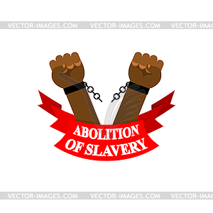 Abolitionist clipart graphic free Abolition of slavery. Arm slave with broken - vector clipart graphic free