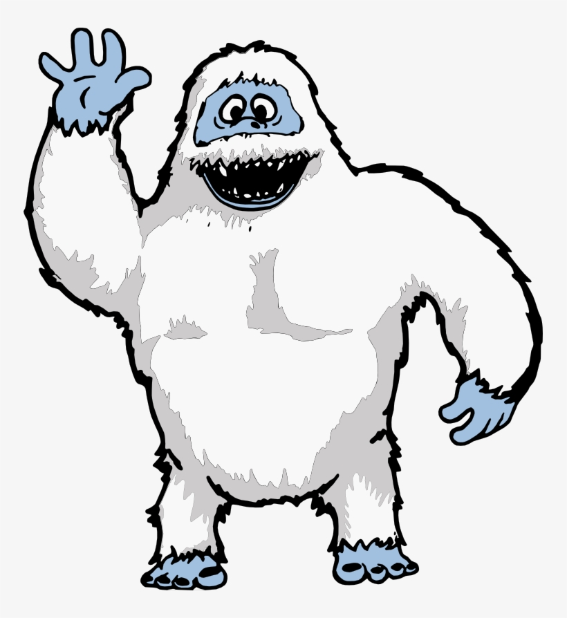 Misc, Personal Use, Abominable Snowman - King Of The Cloud Forests ... clip black and white stock