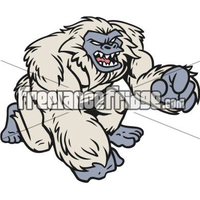 Abominable snowman clipart clip art royalty free library Yeti Abominable Snowman Mascot Character vector clipart stock ... clip art royalty free library