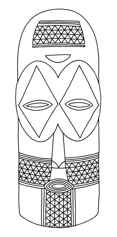 Aborginal mask art lessons clipart transparent Teach a lesson on African culture. Show examples to students about ... transparent