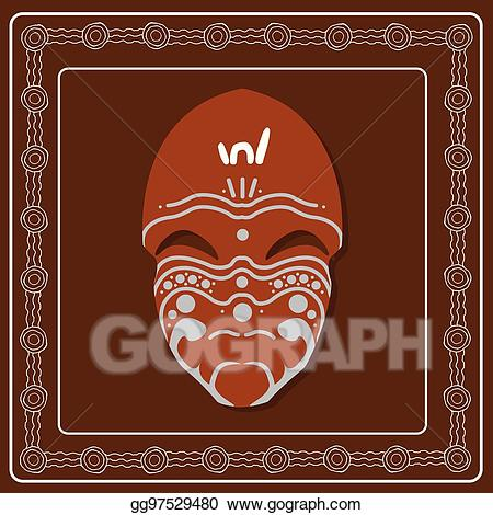 Aborginal masks clipart clipart royalty free library EPS Illustration - Aboriginal mask. aboriginal art vector painting ... clipart royalty free library