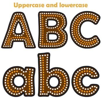 Aboriginal designs clipart jpg transparent library Indigenous Australian Art Style Alphabet Letters - Clipart jpg transparent library