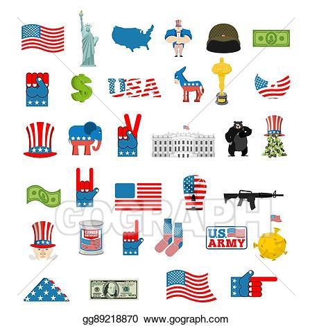 About us icon clipart picture stock Vector Stock - American icon set. national sign of america. Clipart ... picture stock
