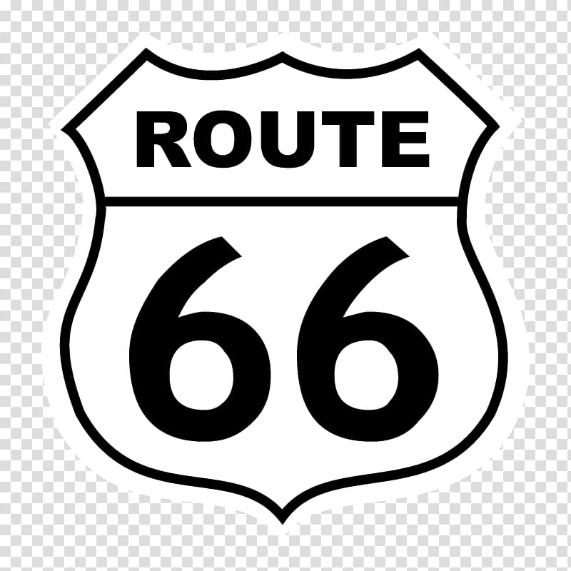 U.S. Route 66 Logo Road US Numbered Highways, route 66 transparent ... svg free library
