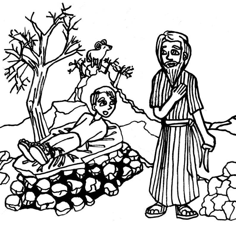 Abraham and isaac clipart clipart royalty free library LDSFiles Clipart: Abraham and Isaac Coloring Page clipart royalty free library