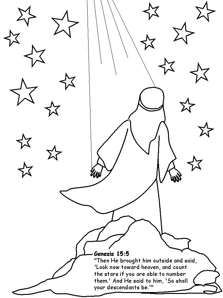 Abraham counts stars clipart vector freeuse stock Abraham coloring pages. We colored Abraham and glued him to black ... vector freeuse stock