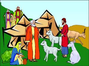 Stories in Bible: Abraham and Lot\'s conflict clip art freeuse download