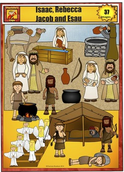 Abraham isaac jacob clipart picture download Isaac, Rebecca, Jacob, and Esau Clip Art by Charlotte\'s Clips ... picture download
