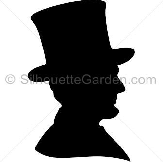 Abraham lincoln silhouette clipart banner black and white library Abraham Lincoln Silhouette banner black and white library