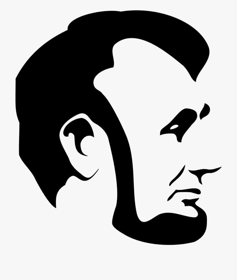 Abraham lincoln silhouette clipart transparent stock Lincoln Clip Art - Abraham Lincoln Silhouette Png #462220 - Free ... transparent stock