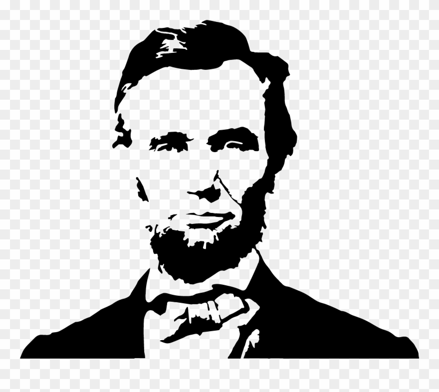 Abraham lincoln silhouette clipart svg transparent download Abraham Lincoln Clipart Painting - Abraham Lincoln Vector Png ... svg transparent download