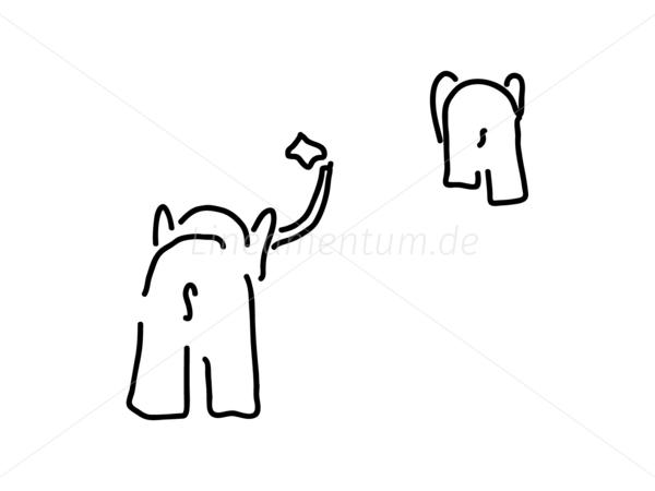 Abschied clip art banner free Tiere und Natur - Abschied mit Taschentuch von Paar von Elefanten ... banner free