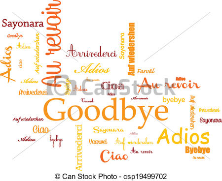 Abschied clip art. Vector clipart of background