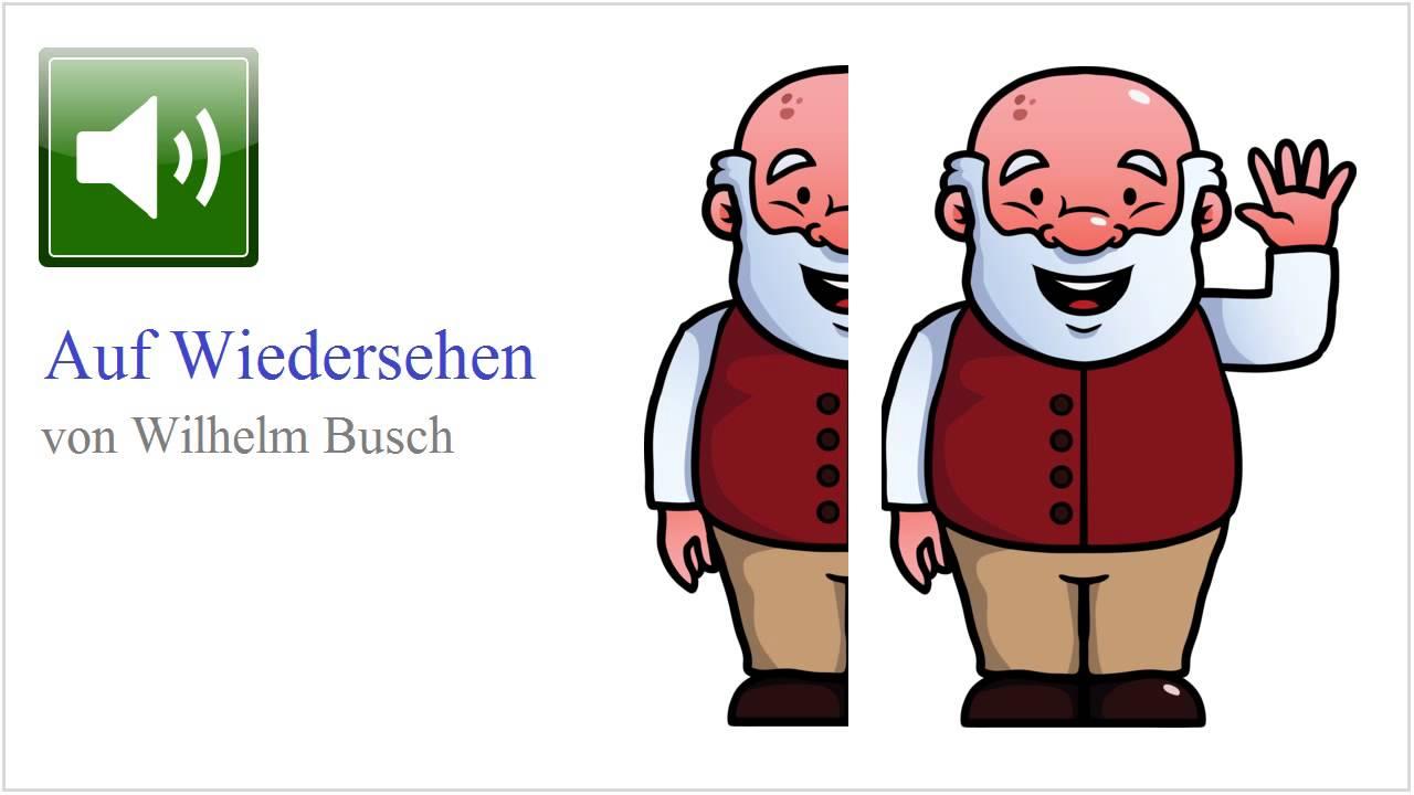Abschied clipart clipart free Auf Wiedersehen | Wilhelm Busch (Gedicht) - YouTube clipart free