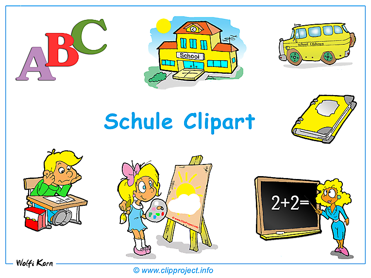 Abschied clipart schule. Cliparts gratis clipartfest schulbilder