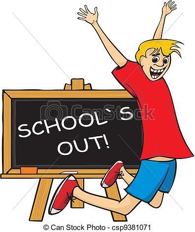 Abschied clipart schule clip art free Vektor Clip Art von springen, freude, heraus, -, school`s - Schule ... clip art free