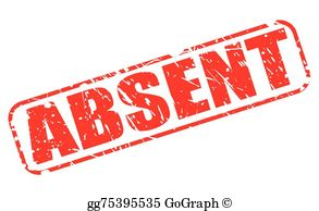 Absent note clipart clipart freeuse Absent Clip Art - Royalty Free - GoGraph clipart freeuse