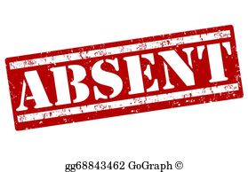 Absent note clipart vector royalty free download Absent Clip Art - Royalty Free - GoGraph vector royalty free download