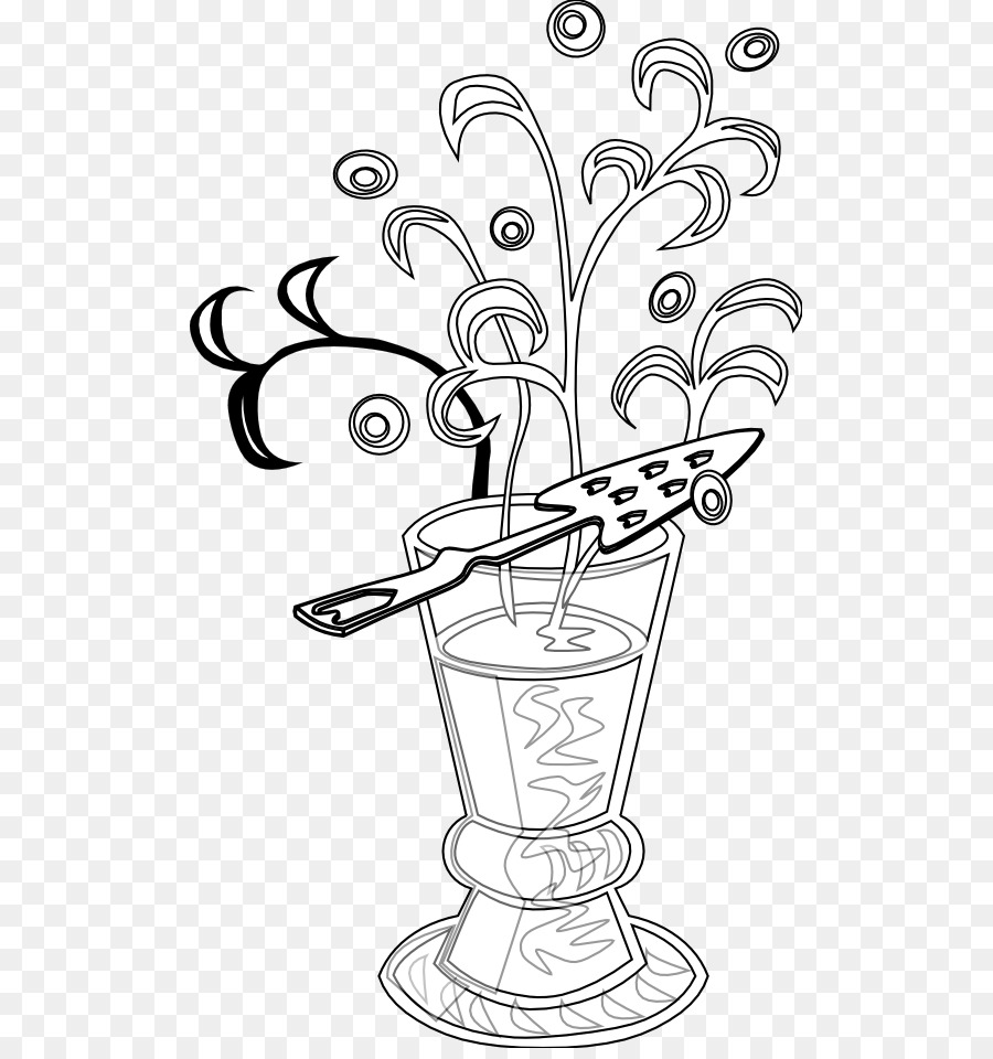 Absinthe clipart clipart freeuse Black And White Flower png download - 555*950 - Free Transparent ... clipart freeuse