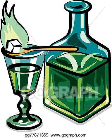 Absinthe clipart banner black and white Vector Illustration - Absinthe. EPS Clipart gg77871369 - GoGraph banner black and white