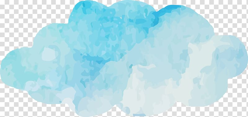 Blue Sky Cloud Turquoise Font, Watercolor blue clouds , blue and ... clip freeuse download