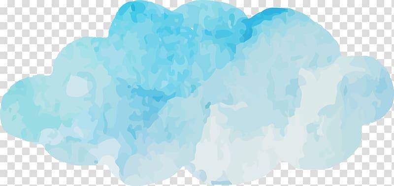 Absract cloud clipart clip freeuse download Blue Sky Cloud Turquoise Font, Watercolor blue clouds , blue and ... clip freeuse download