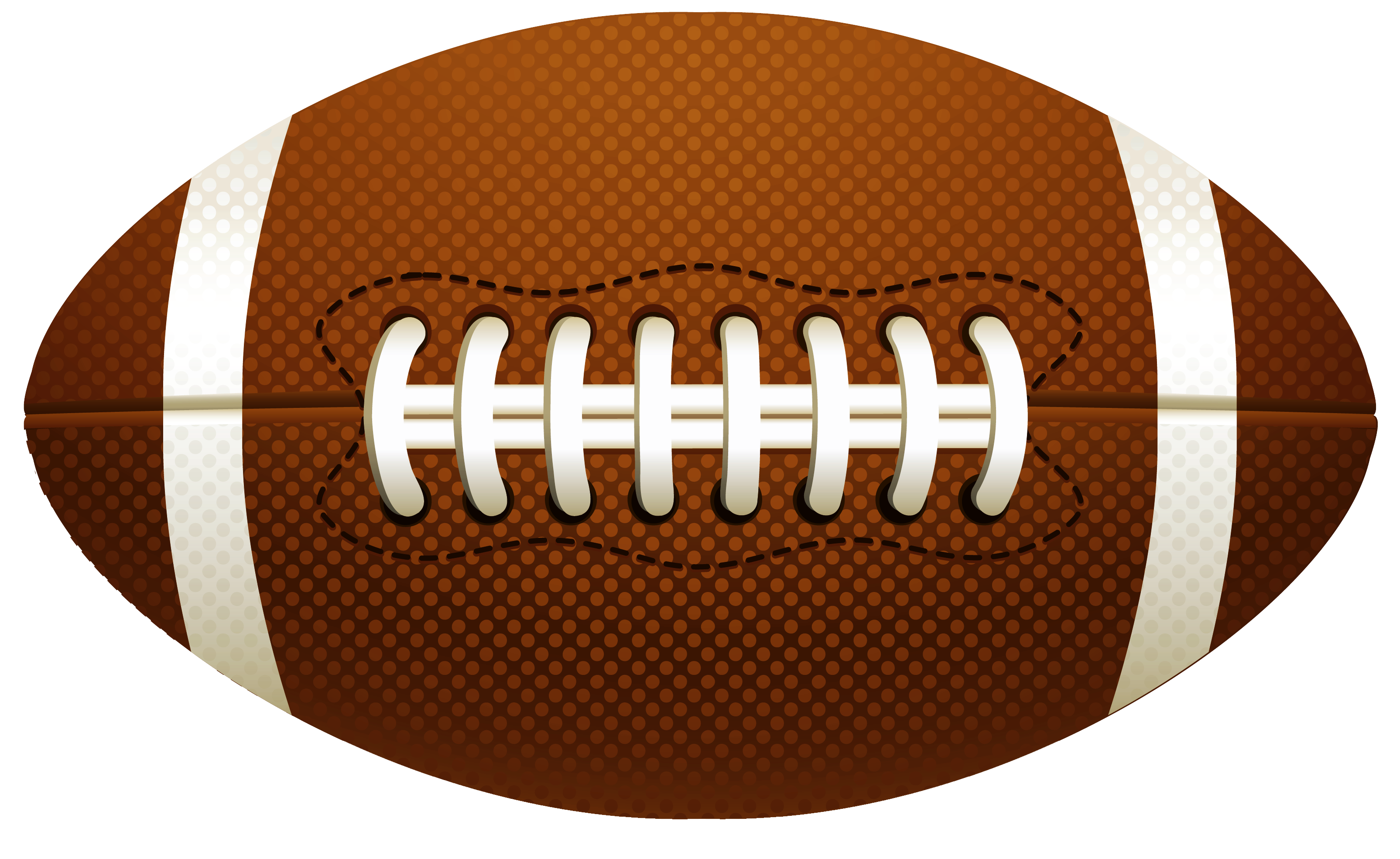 Football clipart set. American ball png vector