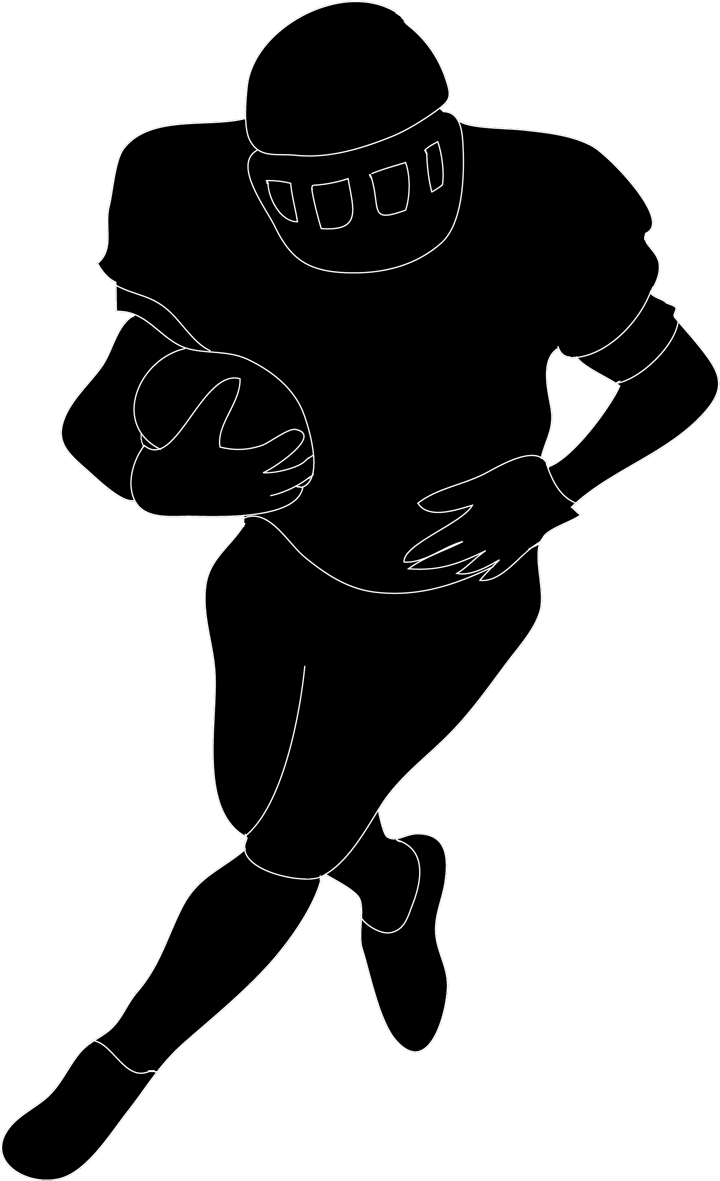 Football player clipart silhouette