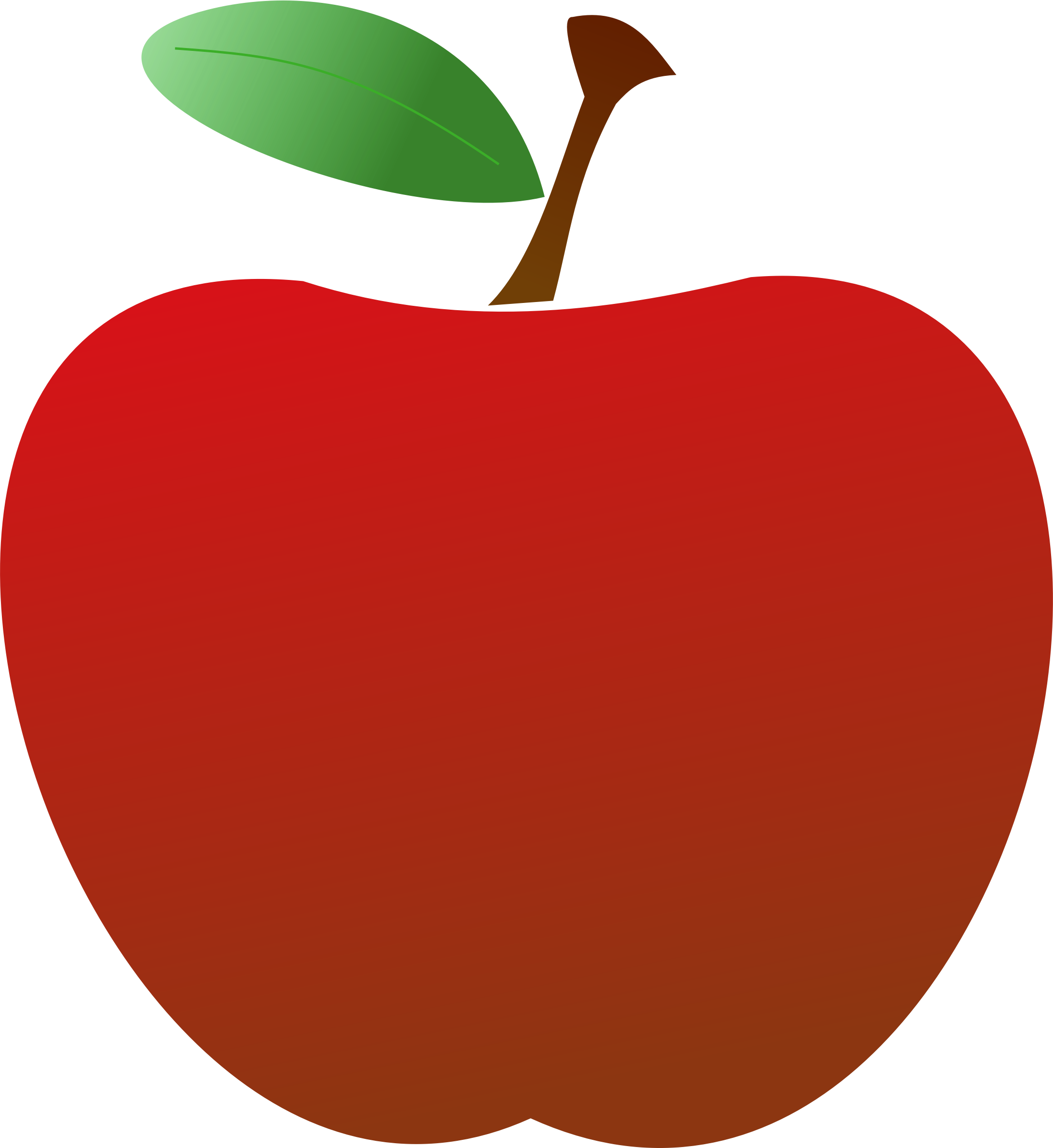 Apple in half clipart royalty free library Clipart Apple Leaf - gucciguanfangwang.me royalty free library
