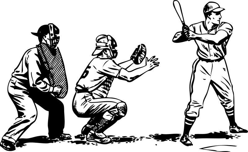 Black and white baseball player clipart picture transparent download Baseball Player Clipart Catcher | Clipart Panda - Free Clipart Images picture transparent download