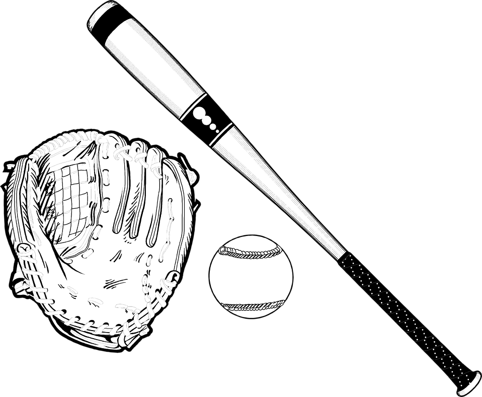 Baseball bat black and white clipart graphic library stock Baseball | Free Stock Photo | Illustration of baseball equipment ... graphic library stock
