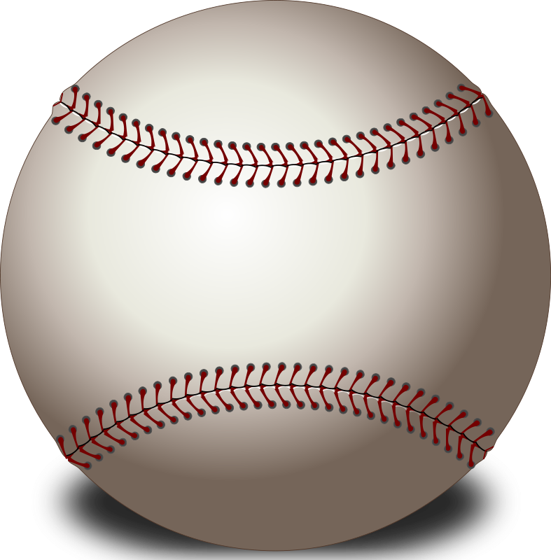 Baseball free clipart picture black and white Baseball | Free Stock Photo | Illustration of a baseball | # 14523 picture black and white
